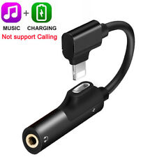Lightning to 3.5mm Splitter AUX Adapter Headphone Jack For iPhone X MAX 7 8 Plus