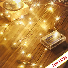 Led String Lights 100 LEDs Decorative Fairy Battery Powered, Copper Wire Light