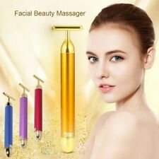 Slimming Face roller Gold Colour Vibration Facial Beauty Roller Massager Stick