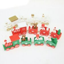 Christmas Train Painted Wood Christmas Decoration for Home Merry Christmas