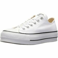 Converse Chuck Taylor All Star Lift Ox White/Black Canvas Adult Trainers Shoes