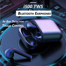 i500 TWS Wireless Bluetooth Headset Superbass Touch Control In-Ear Detection New