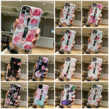 For iPhone 11 Pro Max XS XR X 8 7 6s+ Floral Ring Holder Hybrid Hard Case Cover