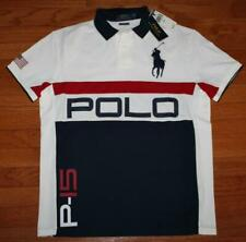 NWT Mens Polo Ralph Lauren Custom SLIM Fit Polo Shirt BIG PONY P-15 LOGO *H7