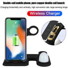 4 In1 Qi Wireless Charger Pad Charging Station For Apple Watch iPhone 11 Airpods