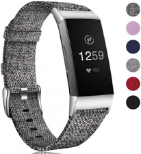 Compatible for Fitbit Charge 3 Strap Bands, Breathable Nylon Woven Replacement