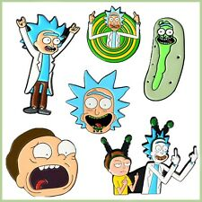 Jewellery Cartoon Brooch Funny Rick Morty Badge Enamel Pin For Clothes Bags Hat