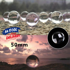 50mm Clear Glass  Props Crystal Ball Home Decoration Sphere for Photography