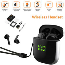 Bluetooth Headset Wireless TWS Earphone Earbuds Stereo In-Ear IPX5 CVC3.0 WK60