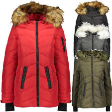 STEVE MADDEN Womens Faux Fur Hood Padded Puffer Coat Jacket