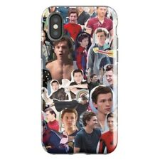 Tom Holland Spiderman Collage iPhone X XR 5 6s 6 Plus 7 8 S Plus, Superhero Case