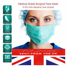 Disposable Surgical Ear loop Face Mask Salon Dust Cleaning Medical 3 Ply UK PACK