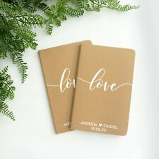 Personalised love vow booklets, his and her vows books, wedding vow journals