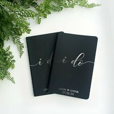 Vow book his and her vows booklet, personalised wedding vows journals with names
