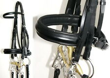 FRANK BAINES English COMFORT Ergonomic Padded POLL Crank DOUBLE Weymouth Bridle