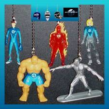 MARVEL HEROES FANTASTIC 4 FIGURES CEILING FAN PULLS-INVISIBLE WOMAN, THING, ETC.