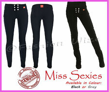 Girls School Trousers Miss Sexies Black Grey Sizes 4 6 8 10 12 14 16 Hipsters