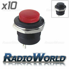10x Push Button Switch 3A 250V OFF-(ON) 1 Circuit Momentary Horn Car Dash