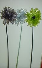 24 Pieces of 67cm Metallic Silk Gerbera with Black Stem Various Colours