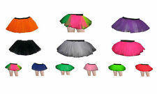 Neon UV Childrens/Kids Tutu Skirt Party FancyDress Halloween DanceWear S/M & M/L