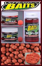 Strategy Baits Garlic Robin Red Fish Boilies Fluo Pop Up Dip 1  2,5kg 12 14 20mm
