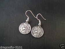 Antique Silver Coins Necklace/Earrings or Set (Hook/Clip on) by Elizabeth*SRAJD