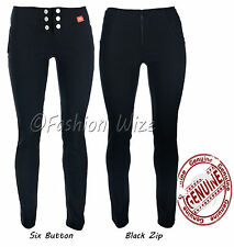 Ladies Smart Strech Hipster Trousers Sizes 4 6 8 10 12 14 16 Miss Sexies
