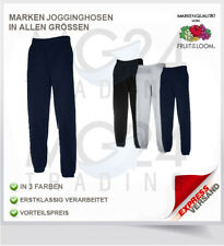 FRUIT OF THE LOOM Jogginghose Gr S M L XL XXL in schwarz blau und grau Gummibund