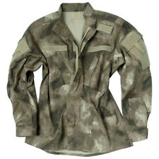 ARMY TACTICAL ACU STYLE MILITARY COMBAT MENS SHIRT AIRSOFT RIPSTOP MIL-TACS CAMO