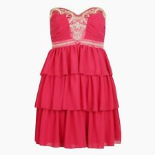 BNWT new LIPSY Pixie lott Strapless embellished pink Ocassion bella Dress SIZE