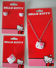 HELLO KITTY NWT Costume Jewelry Necklace Ring Pierced Earrings 2 3 4 5 6 7 8 9