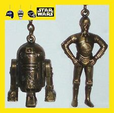 STAR WARS DIE CAST METAL FAN PULLS-R2D2/C3PO/LUKE SKYWALKER/YODA/LUKE AS A PILOT