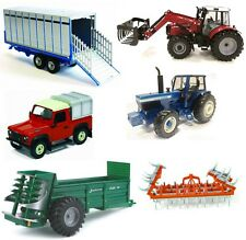 Britains Model Farm Trailers & Farmyard Machinery- 1:32 Scale Diecast Toy Farmer