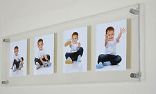 """Acrylic perspex multi floating picture photo frame for 4x 9x7/9x6/8x6"""" all color"""
