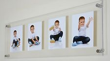 """Perspex acrylic floating picture photo frame for 4x 9 x 6 """" all colours"""
