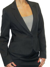 NEW (5084) Smart Tailored Suit Style Jacket Pinstripe Grey 8-18