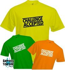 CHALLENGE ACCEPTED - How I Met Your Mother HIMYM - Barney Stinson - NEW T-Shirt