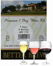 6 Bottle Wine Kits 7 Days Better Brew 5L Red White Rose Homebrew Just Add Water