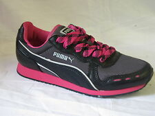 "LADIES DARK SHADOW/BLACK/BEETROOT PUMA TRAINERS ""CABANA RACER WINTERLUX"""