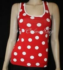 Red And White Polka Dot Vest Top Fancy Dress Halloween Costume Outfit Hen Night