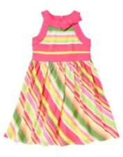 GYMBOREE TEA TIME AFTERNOON BOLD STRIPE N BOW KNIT DRESS 3 4 5 6 7 8 9 10 12 NWT