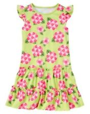 GYMBOREE TEA TIME AFTERNOON GREEN HYDRANGEA KNIT DRESS 3 4 5 6 7 8 9 10 12 NWT