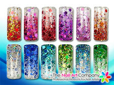 5ml POT PRO GLITTER MIX NAIL ART POWDER - ULTRA, FINE & HEXAGONS - SERIES 2