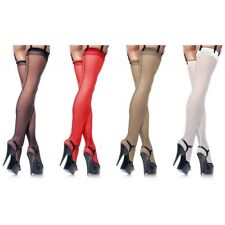 Sheer Back Seam Thigh High Stockings Adult Womens Sexy Pantyhose Hosiery