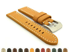 Men's Two-Piece Genuine Leather Watch Strap Band Marina Ss. Buckle Spring Bars