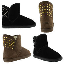 GRIZZLY BECKTON WOMENS/LADIES MERINO WOOL LEATHER FASHION UGG BOOTS/SHOES