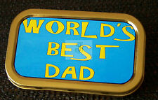 Fathers Day -d- Worlds Best Dad 1 and 2oz Tobacco/Storage Tins