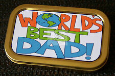 Fathers Day -f-Worlds Best Dad-1-  1 and 2oz Tobacco/Storage Tins