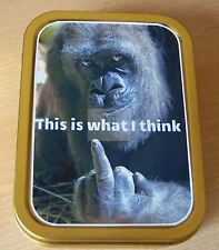Monkey This is What I Think  1 and 2oz Tobacco/Storage Tins