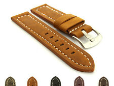 Men's Genuine Leather Replacement Watch Strap Band Panor 22mm 24mm 26mm